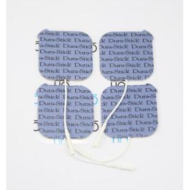 Electrode DURA-STICK +  - carrée 50 x 50 mm - sachet de 4