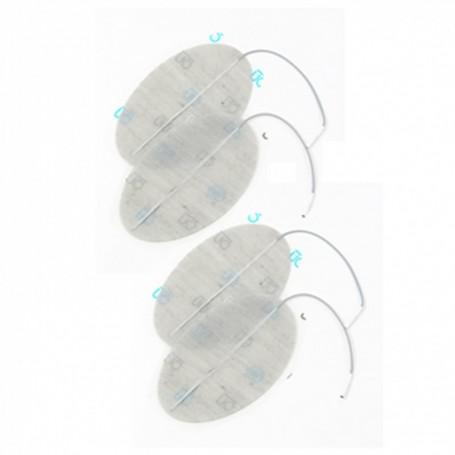 Electrode Dura-stick Premium ovale 40x60mm - sachet de 4