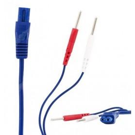 Câble carré bleu pour Duo Pro - Jeu de 2