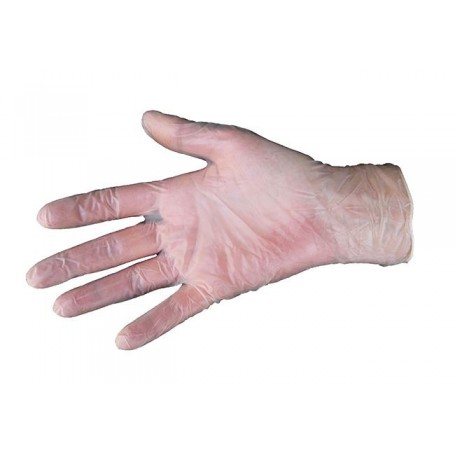 Gants d'examen en vinyle poudrés - Taille S - Boîte de 100 gants