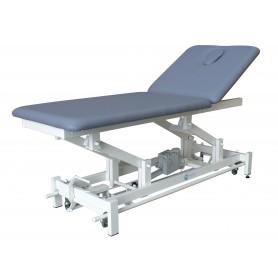 TABLE DE MASSAGE ELECTRIQUE BIPLAN avec barres périphériques et roulettes escamotables