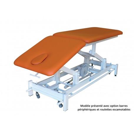TABLE DE MASSAGE ELECTRIQUE BIPLAN avec DOSSIER DECLIVE PROCLIVE - HM802N DP