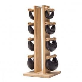 SwingTower - Set haltères 2/4/6 et 8 kg avec support